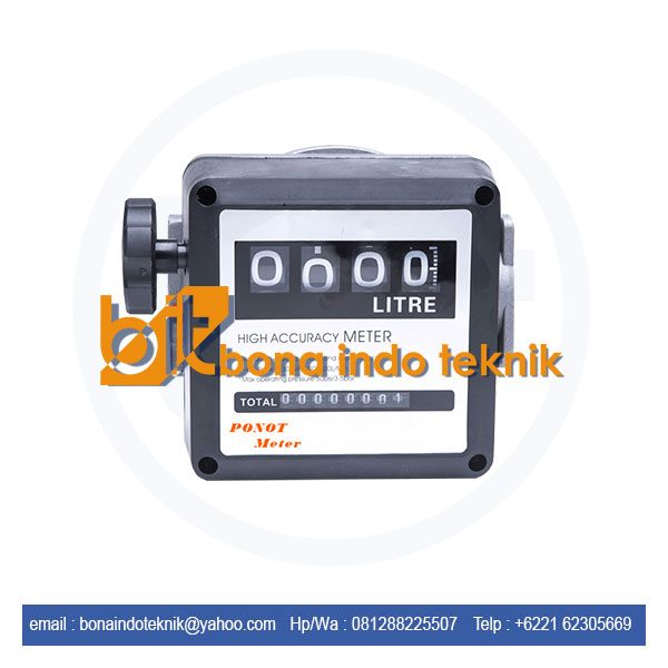 Jual Flow Meter Ponot | Flow Meter 4 digit | Flow Meter Minyak