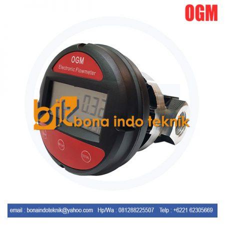 Jual Flow meter digital OGM 1 inch | flow meter Oval Gear Flowmeter