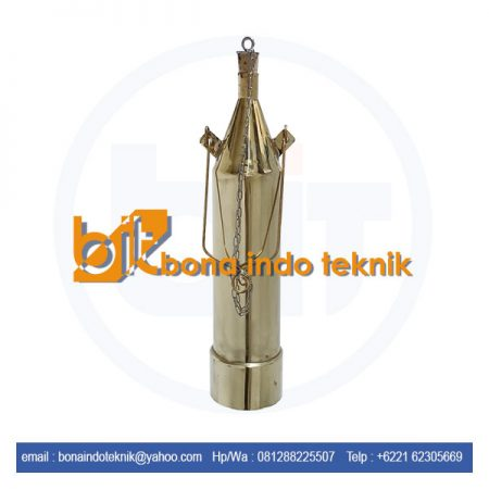Jual Weighted Beaker Brass | Sampling Can Kuningan | Sampling Minyak