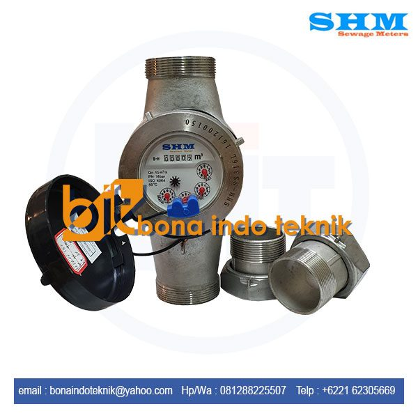 Jual SHM Stainless Steel Flow Meter | Water Meter Stainless Steel